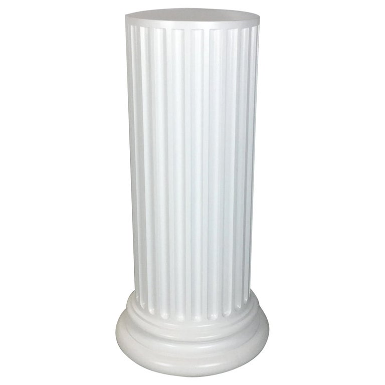 Large Scale Plaster Ionic Column Pedestal For Sale