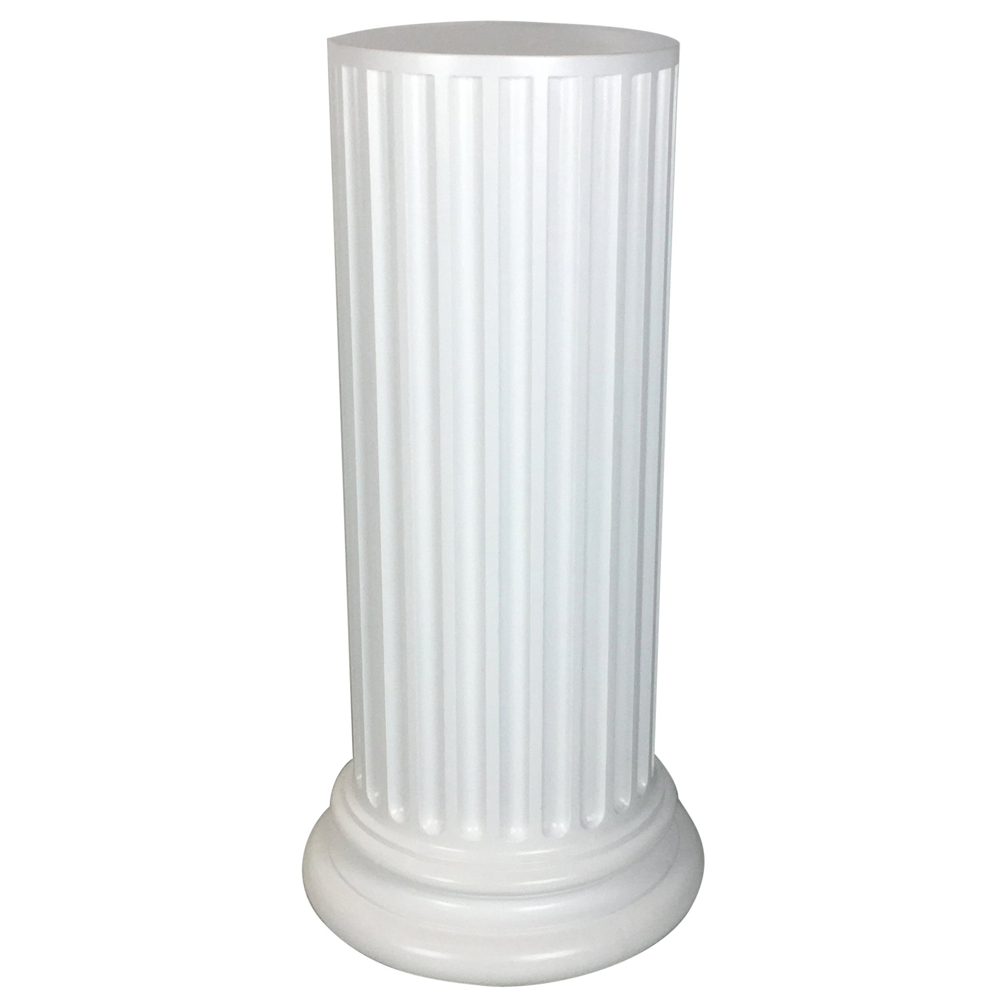 Large Scale Plaster Ionic Column Pedestal