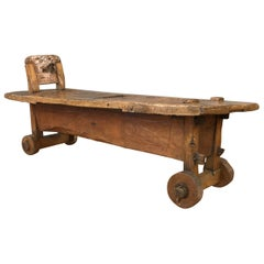 19th Century Italian Work Bench Coffee Table