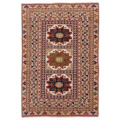 Colorful Caucasian Kazak Rug