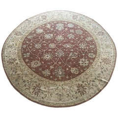 Indian Hand Knotted Floral Mahal Design Rug
