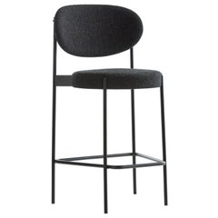 430 Barstool in Charcoal Grey by Verner Panton