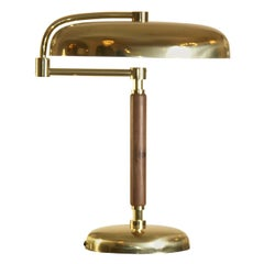 Sviveling Shade Art Deco Desk Lamp, Re-Edition
