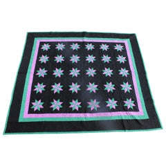 Amish Quilt Holmes County Ohio, Eight Point Stars