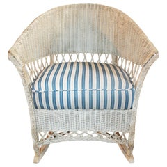 Bar Harbor Vintage Wicker Rocking Chair