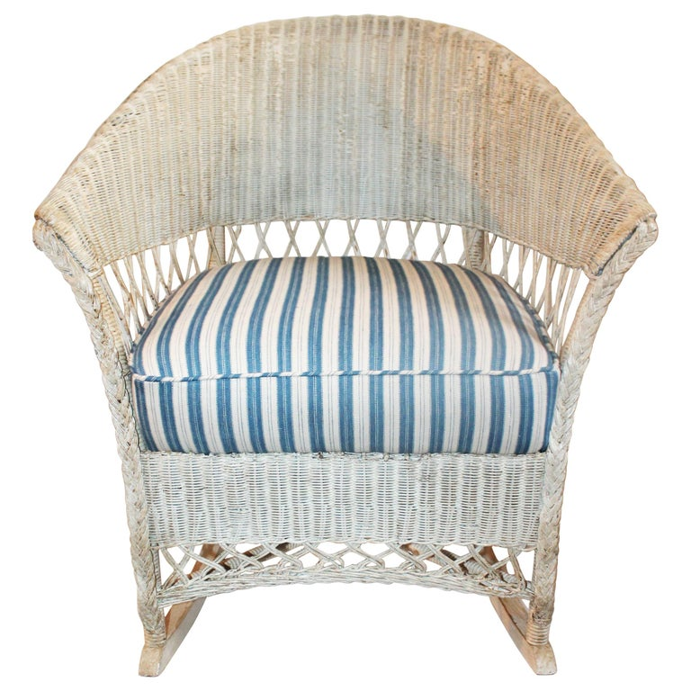 Bar Harbor Vintage Wicker Rocking Chair For Sale At 1stdibs