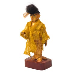 Late 19th-Early 20th Century Burmese Nat-Pwe Standing Female Figure