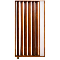 Vladimir Kagan Architectural Louvered & Illuminated Room Divider with COA, 1967