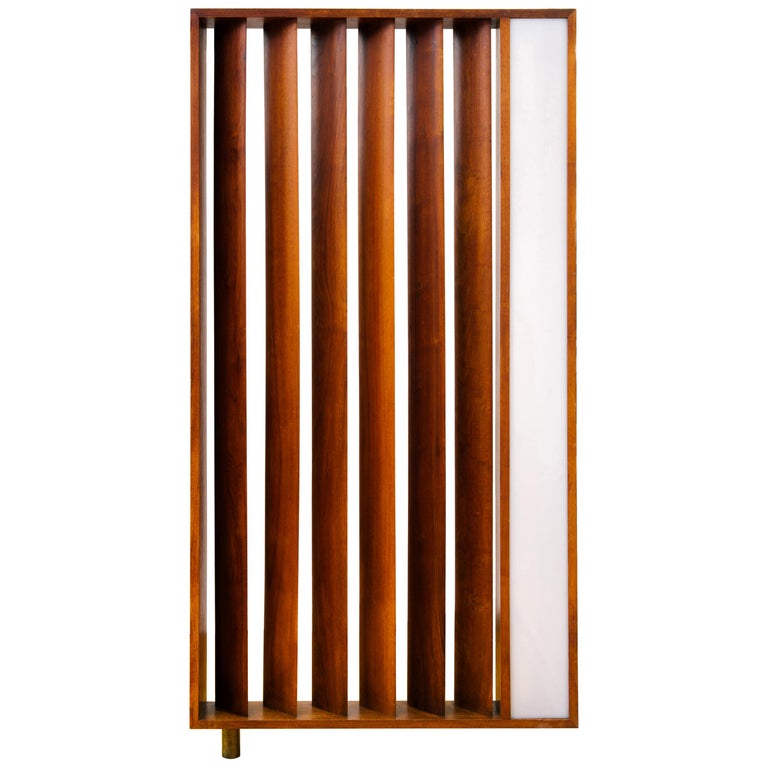 Vladimir Kagan Architectural Louvered & Illuminated Room Divider with COA, 1967 For Sale