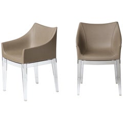 Phillipe Stark Mademoiselle Upholstered Faux Leather Chairs