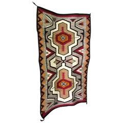 Native American Navajo Handwoven Rug Blanket