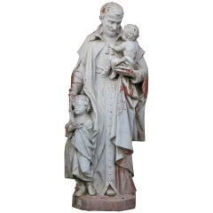 Saint Vincent de Paul Statue, France Late 19th Century