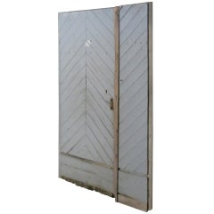 "French Countryside Farm Door in Wood ""Chevron"" Style 18th Century, France"