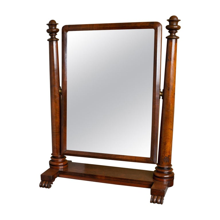 Large Antique Vanity Mirror English, Regency, Toilet, Swing, Platform circa 1830 For Sale