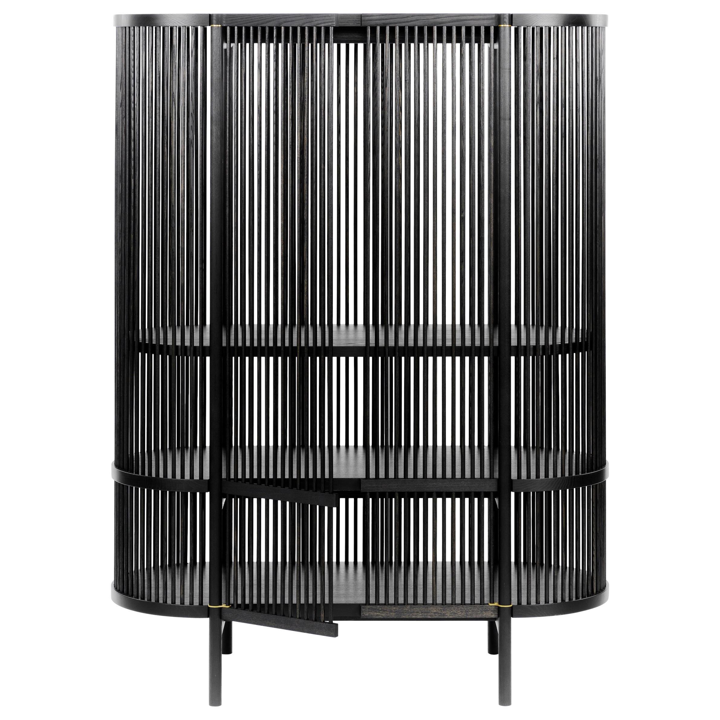 Bastone Cabinet in Black with Doors