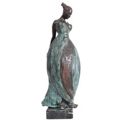 Bronze Lady Sculpture