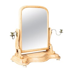 Antique Dressing Table Mirror, English Victorian, Vanity, Toilet, Painted