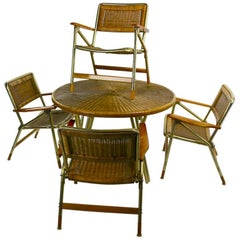 Chic Dining Patio Set by Telescope Chair Company