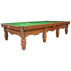 Billiard Snooker Table Oak Victorian Country House George Wright London England
