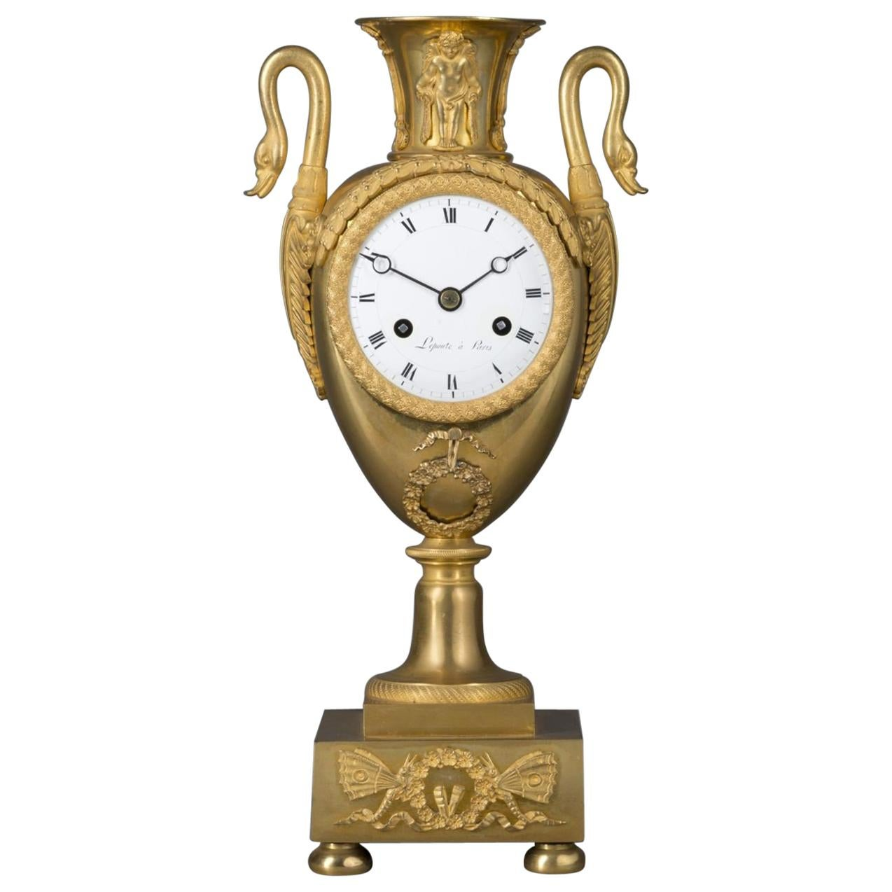 Empire Clock in the Form of a Classical Urn, by Maison Lepautre, circa 1825