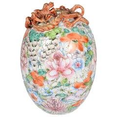 Chinese Millie Fleur Porcelain Vase, circa 1910