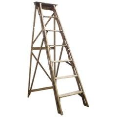 1950s Wooden Decorative Ladder