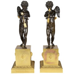 Pair of Early 19th Century Bronze Cherubs