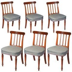 Six George III Regency Dining Chairs