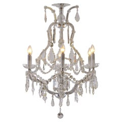 Original Maria Theresien Style 1920s Crystal Chandelier
