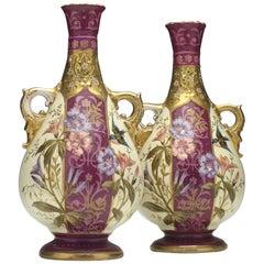 Pair of 19th German Century Royal Bonn Vases, circa 1880