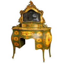20th Century Lacquered and Painted Wood Venetian Dressing Table, 1950