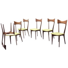 Set of 6 Dining Chairs, Ico Parisi and Luisa Parisi Design for Ariberto Colombo