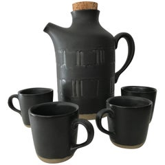 Jane & Gordon Martz for Marshall Studios Ceramic Serving Set, Pitcher and Cups