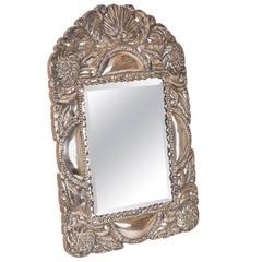Spanish Colonial Sterling Silver Mirror Frame