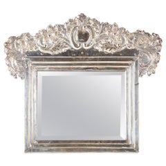 Spanish Colonial Peruvian Silver Table Mirror
