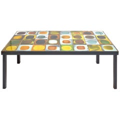 Roger Capron Iconic Ceramic Coffee Table, 1960s