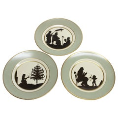 Three Royal Copenhagen Hans Christian Andersen Fairy Tale Silhouette Plates