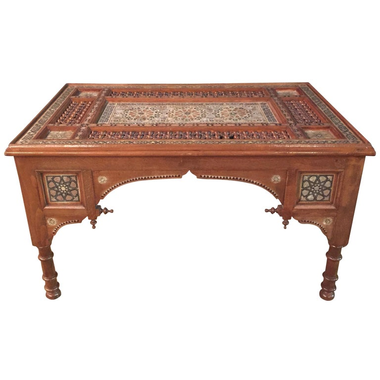 Oriental Coffee Table Inlaid With