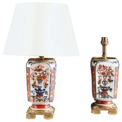 Pair of 19th Century Imari Vases as Table Lamps with Gilt Bronze Mounts