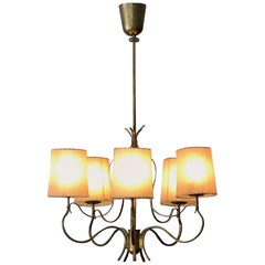 Elegant Chandelier by Paavo Tynell