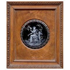 """Clotho La Fileuse"" a Limoges Revival Mythological Enamel on Copper Plaque"