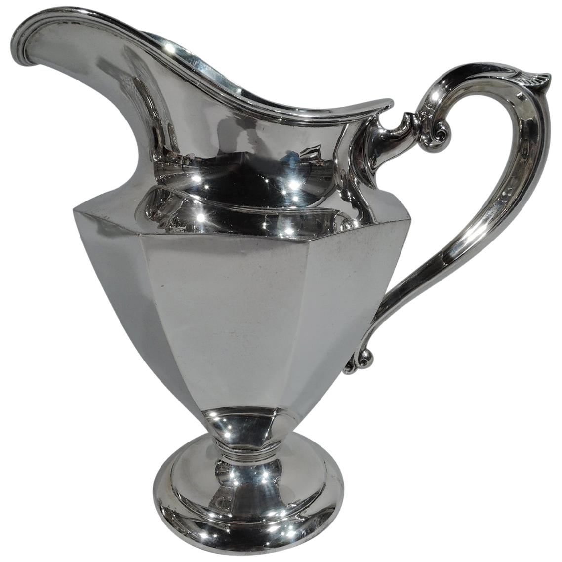 American Art Deco Modern Sterling Silver Water Pitcher