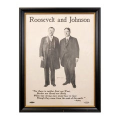 """1912 """"Teddy"""" Roosevelt and Johnson Campaign Poster"""