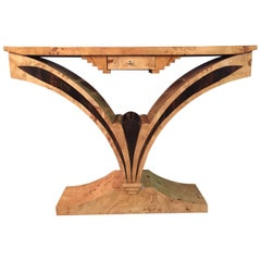 Exceptional Console in Art Deco Style