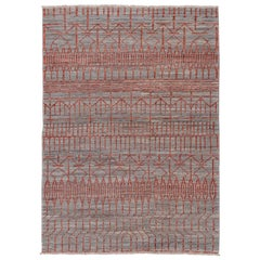 Unique Hand Knotted Tribal Gabbeh Rug
