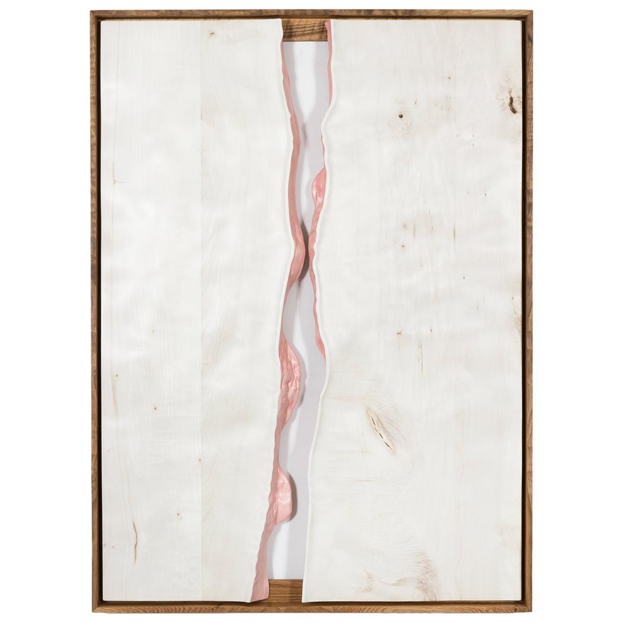 "Julian Watts ""Live Edge I"" Carved Wood Sculpture"