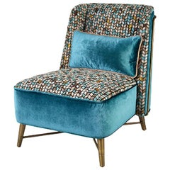 Beautiful Armchair Frame Made of Solid Timber Bronze or Silver Finish Feet