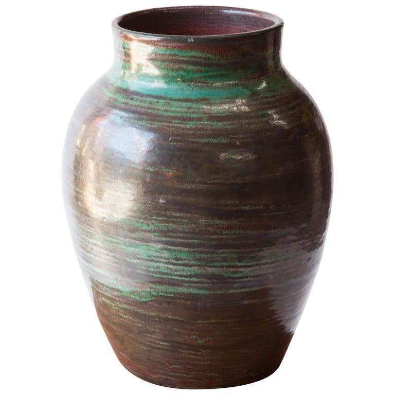 French 1960s Large Ceramic Vase For Sale