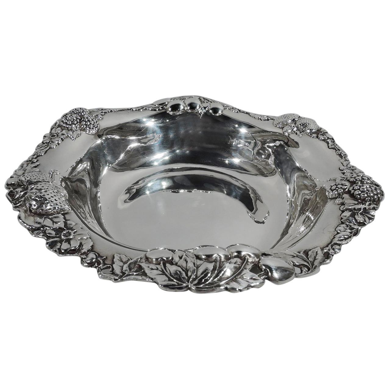 Pretty Antique Gorham Sterling Silver Berry Bowl