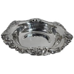 Pretty Antique Gorham Sterling Silver Berry Bowl